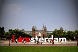 Fietstocht in Amsterdam