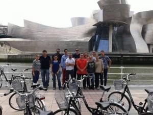 Fietsen in Bilbao - Guggenheim Museum