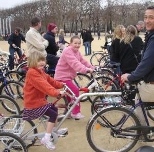 Fietsen met kinderen op stedentrip