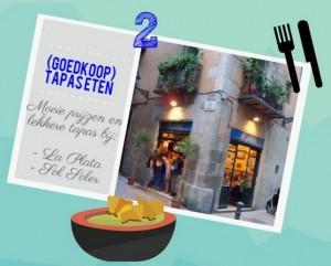 Tapas eten in Barcelona