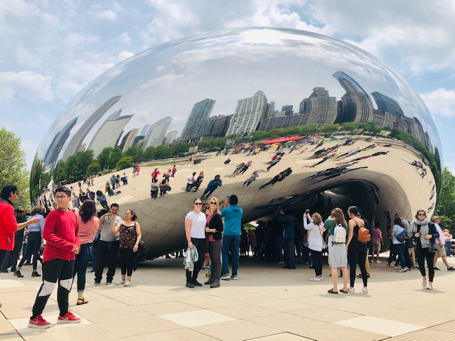wat te doen in chicago bezoek the bean of Cloud Gate