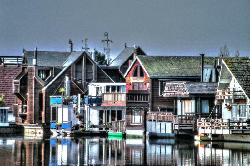 Sausalito boathouses
