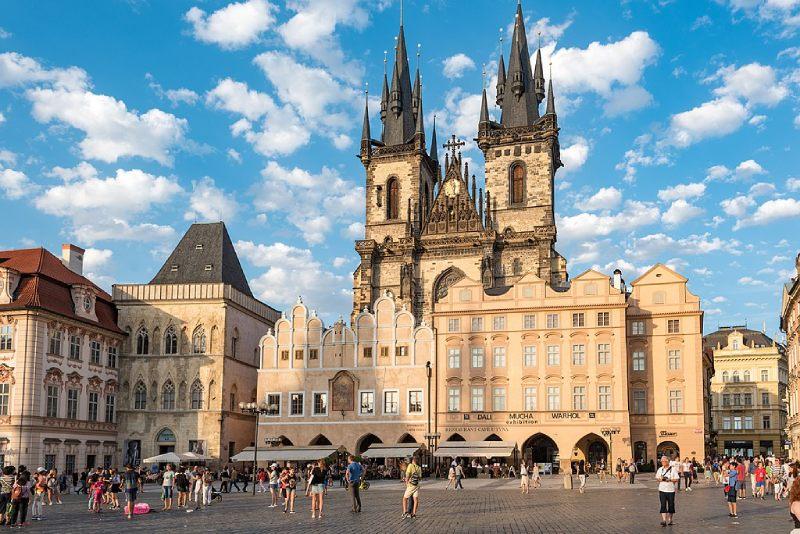Stadsplein Praag Staroměstské náměstí