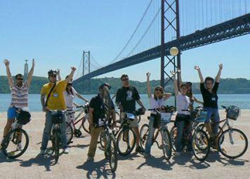 Studenten Fietstocht in Lissabon