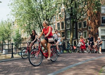Fiets huren Amsterdam; handrem