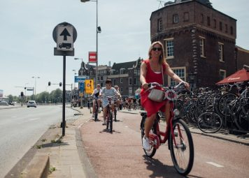 Studentenfietstour in Amsterdam