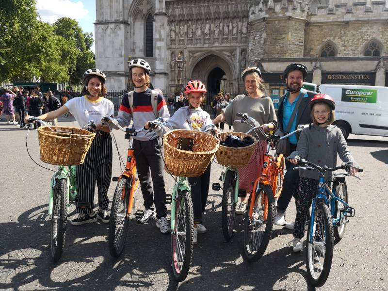 London by bike with kids