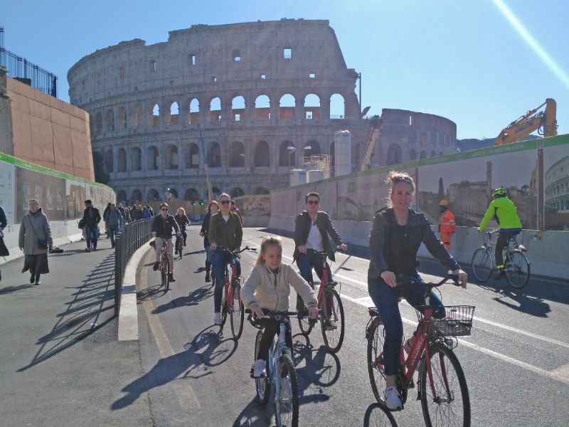 Rome by bike with kids