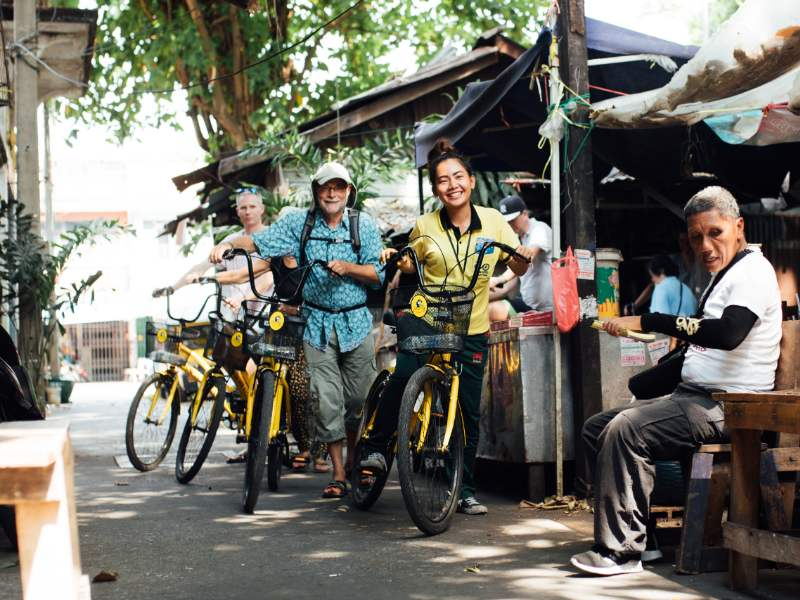 Bangkok highlights tour en bici