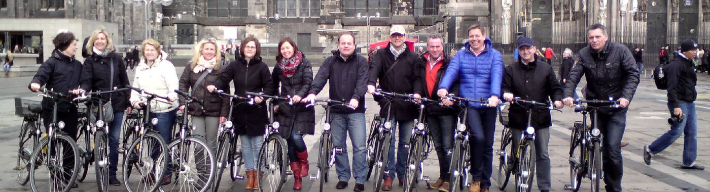 Cologne sightseeing tours with Baja Bikes