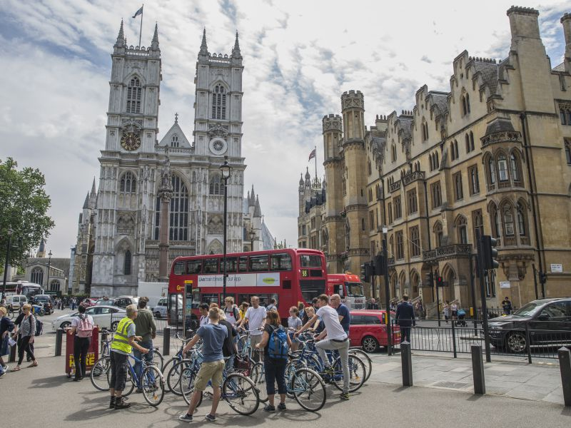 Studenten Fahrradtour London
