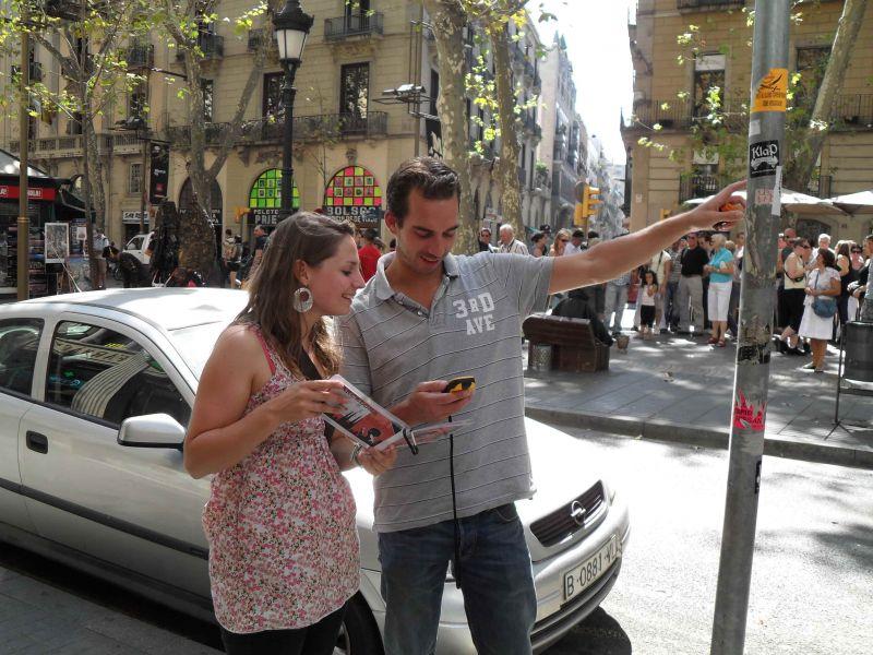 Barcelona ruta a pie con gps