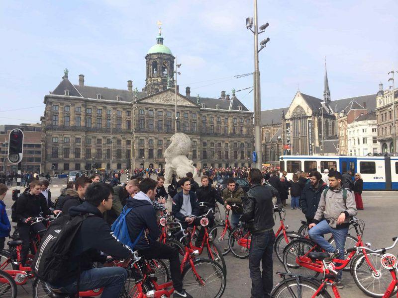 Studentenfietstour in Amsterdam