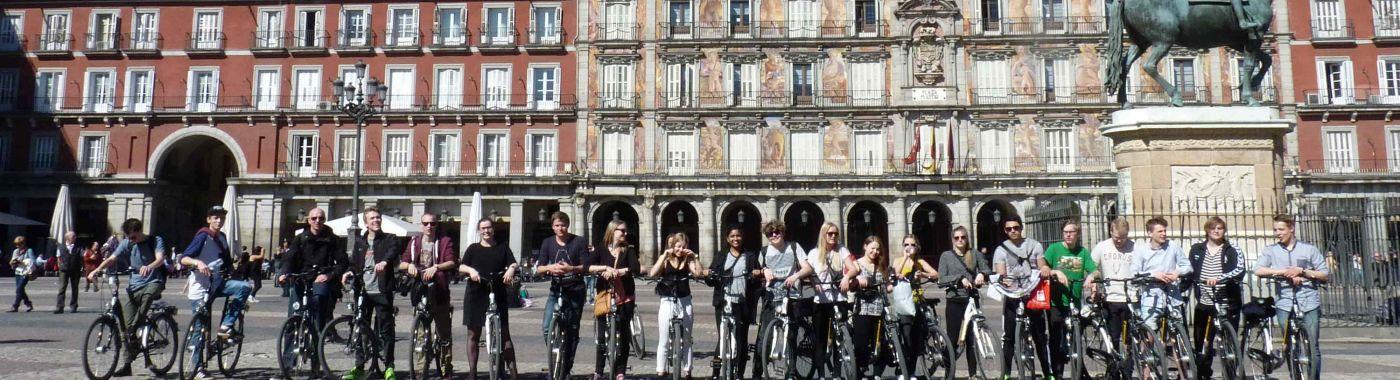 Studenten fietstour Madrid