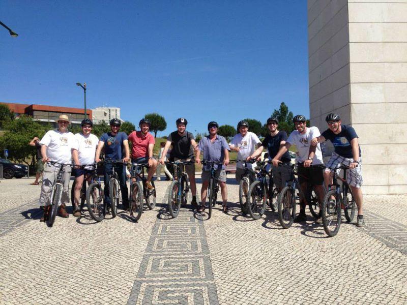 Studenten Fahrradtour Lissabon