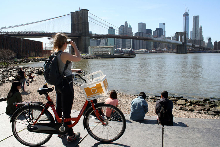 Fietsverhuur in New York