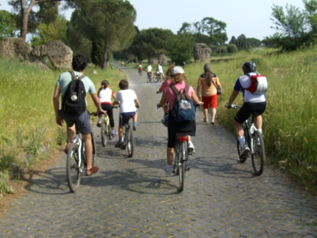 Studenten Fahrradtour Rom