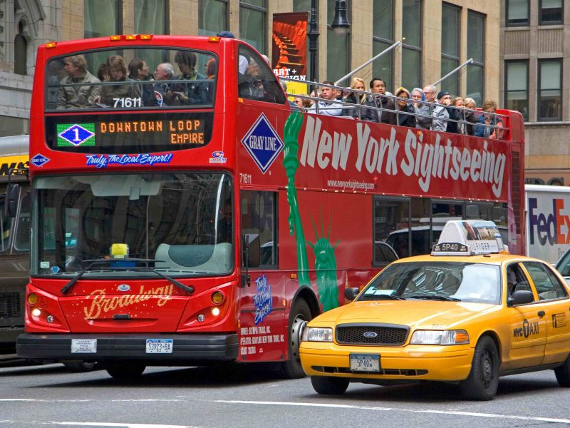 Hop on Hop off bus Downtown New York
