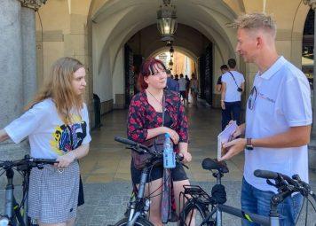 Studentenfietstour in Krakau