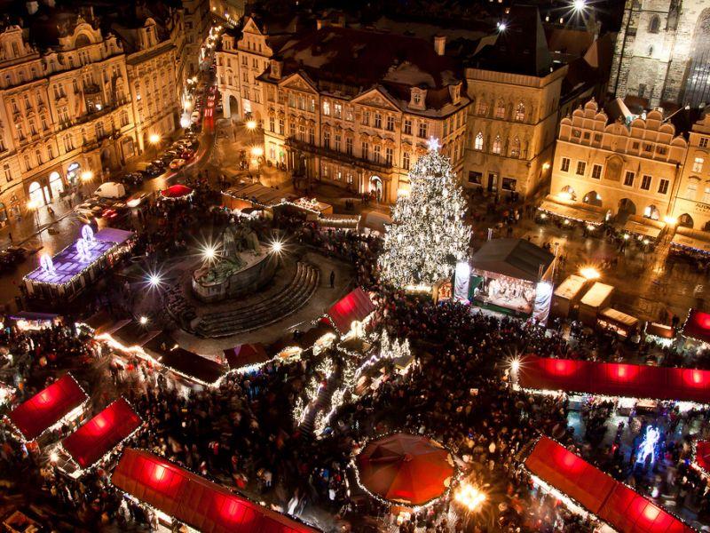 Prag Weihnachtsmarkt Spaziergang