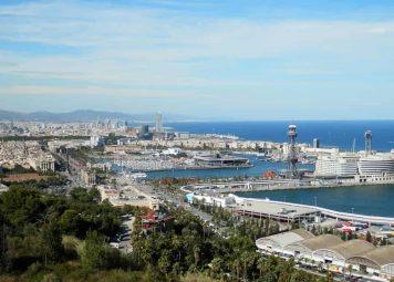 Panoramische Barcelona Fietstocht op Montjuic