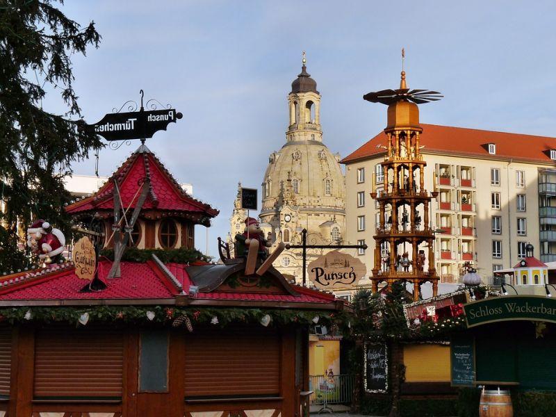 Dresden Weihnachtsmarkt Spaziergang