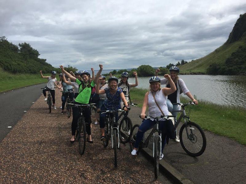 Studentenfietstour Edinburgh