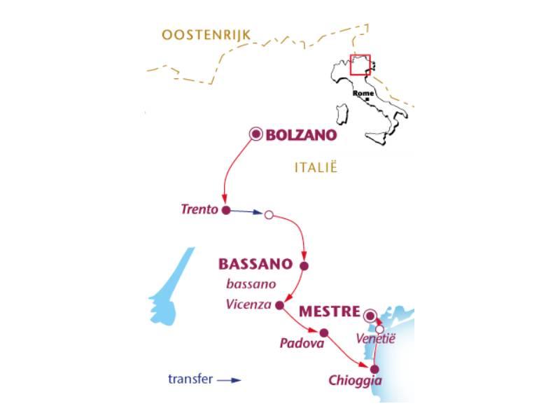 Fietsvakantie van de Alpen naar Venetië (8 dagen)