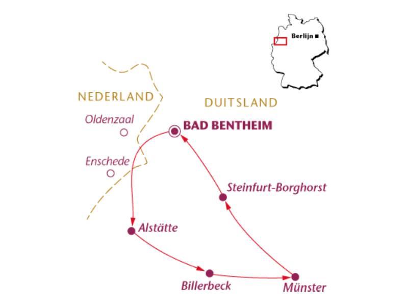 Fietsvakantie Münsterland (7 dagen)