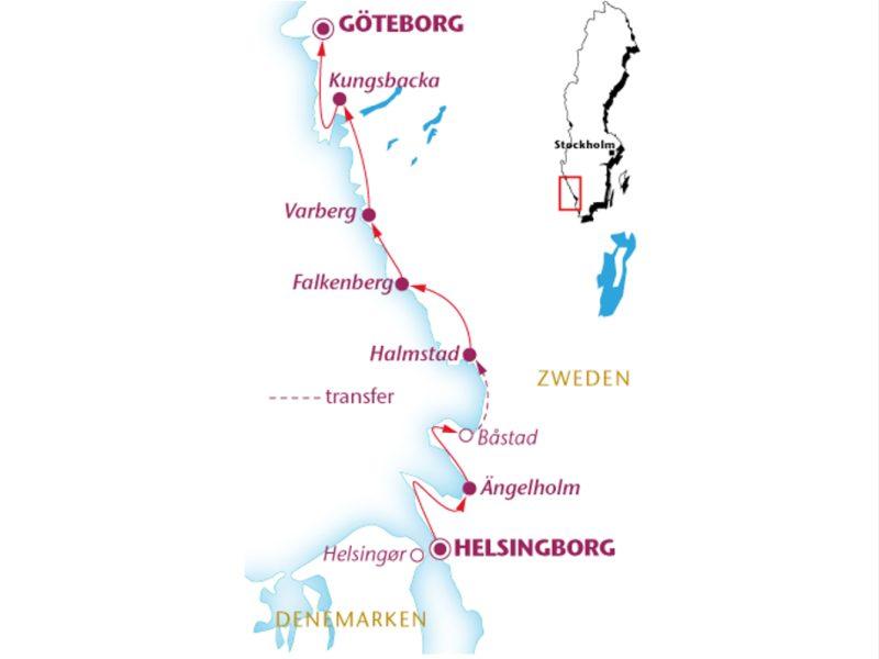 Fietsvakantie Zweden Kattegat (8 dagen)