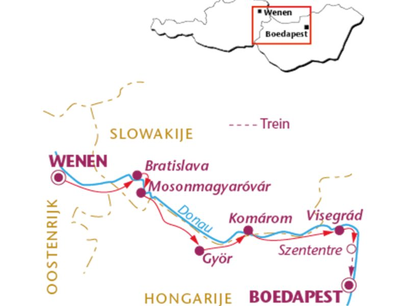 Fietsvakantie Donauradweg: Wenen – Boedapest (8 dagen)