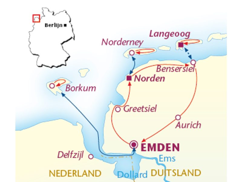 Fietsvakantie Duitse Wadden (8 dagen)