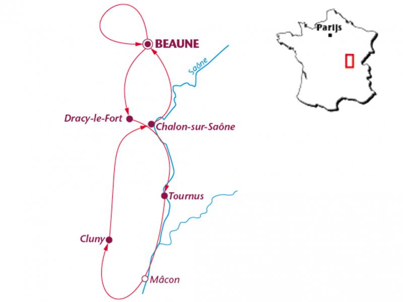 Fietsvakantie Bourgondië Culinair (7 dagen)