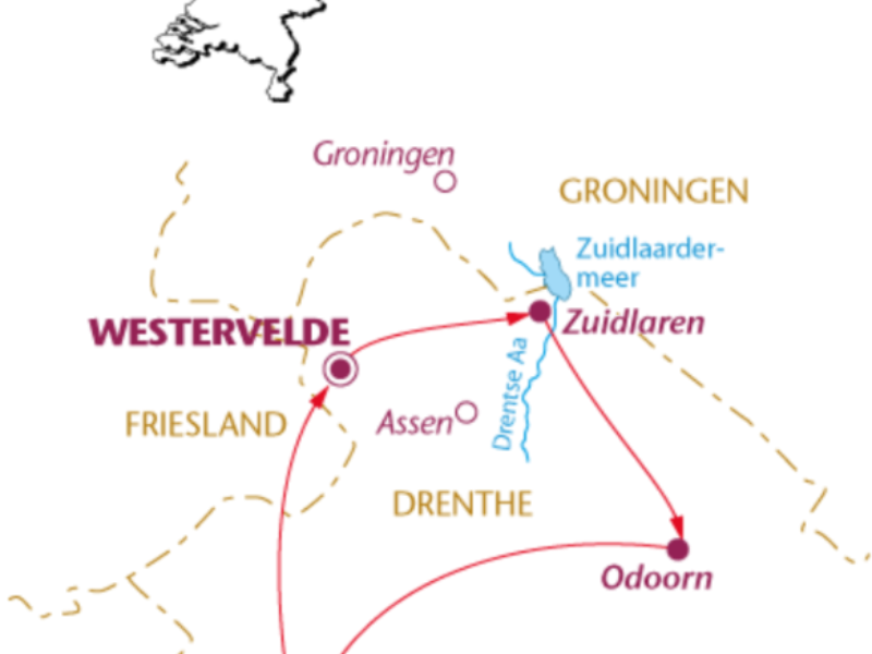 Fietsvakantie Drenthe (6 dagen)