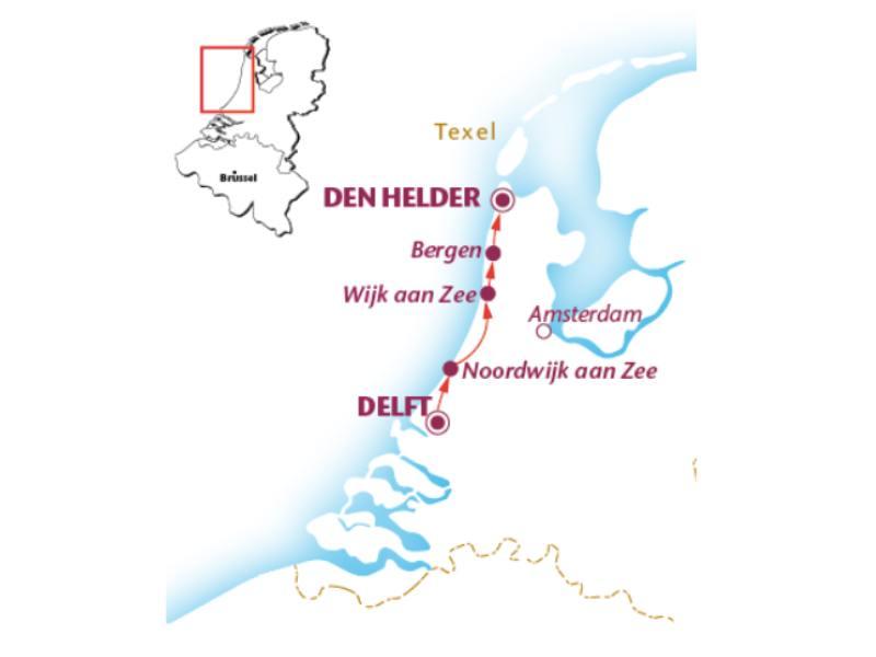 Radreise Nordseeküstenradweg Holland (6 Tage)