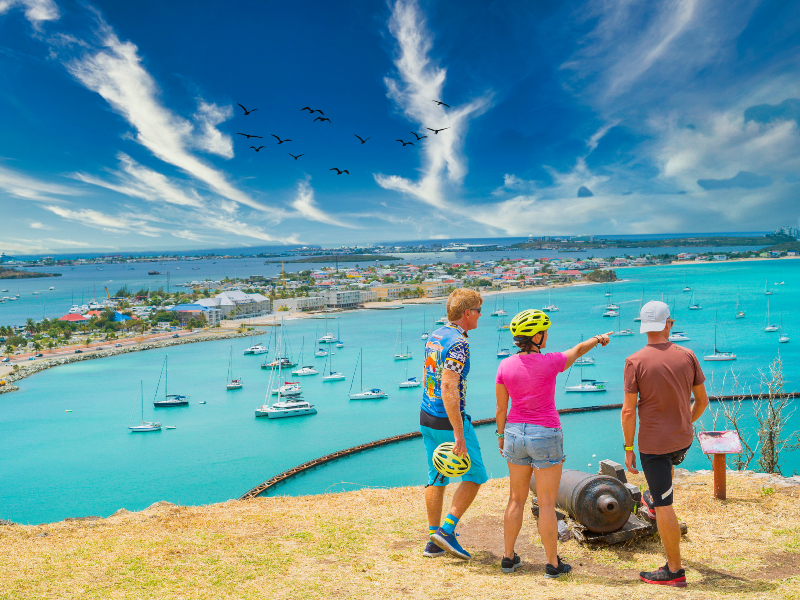 St. Maarten Lagune Fahrradtour