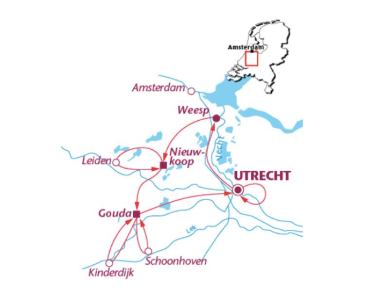 Radreise Holländische Wasserlandschaft (7 Tage)