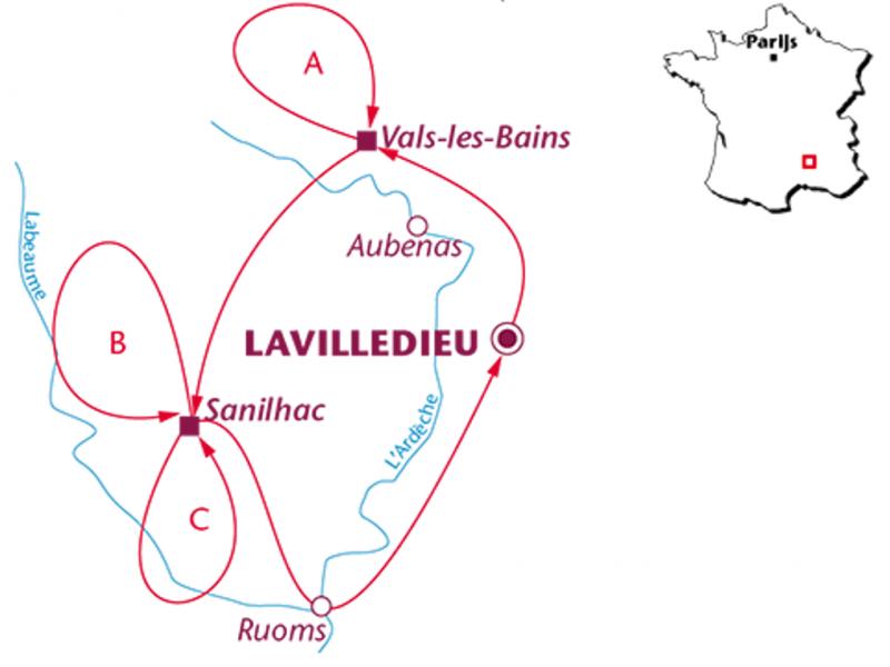 Fietsvakantie Ardèche (8 dagen)